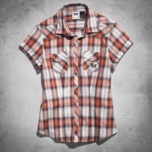 Harley-Davidson Plaid Short Sleeve Button Up